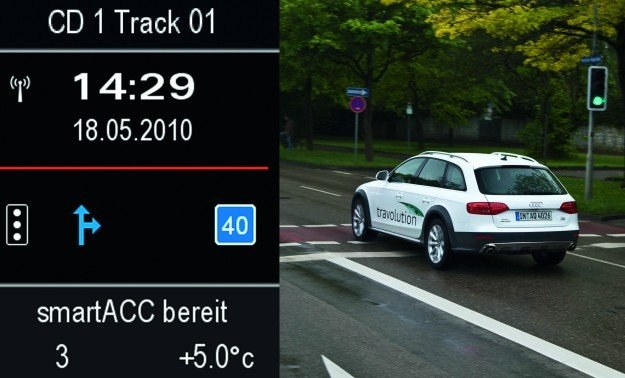 System komunikuje samochód z sygnalizacją /