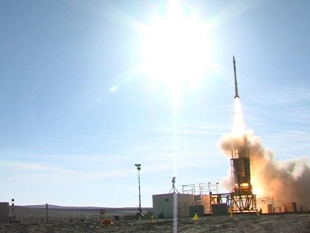 System Proca Dawida podczas testów w 2012 roku. Źródło: United States Missile Defense Agency. /materiały prasowe