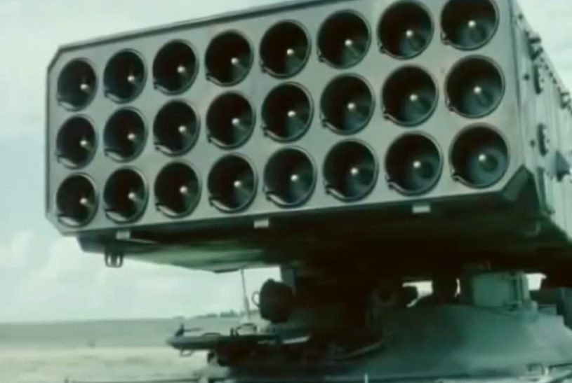 System TOS-1 Buratino postrzegany jest jako pewien substytut taktycznych ładunków atomowych. /YouTube
