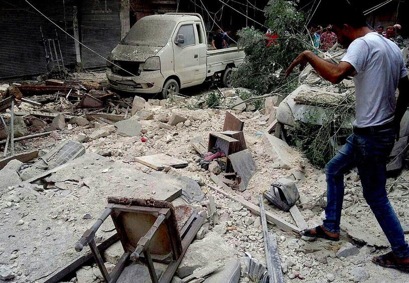 Sytuacja w Aleppo jest dramatyczna /EPA/SANA /PAP/EPA