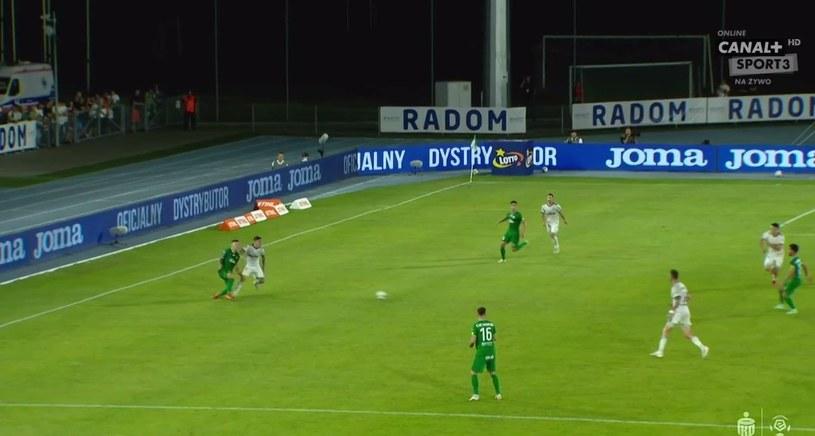 Sytuacja z drugą czerwoną kartką w meczu Radomiak - Legia /