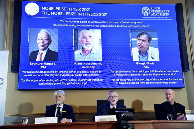 Syukuro Manabe, Klaus Hasselmann i Giorgio Parisi laureatami Nagrody Nobla z fizyki 2021 /PONTUS LUNDAHL /PAP/EPA