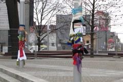 Szalikowy protest w Olsztynie