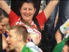 Szalona Chorwatka pokazała piersi na meczu z Irlandią