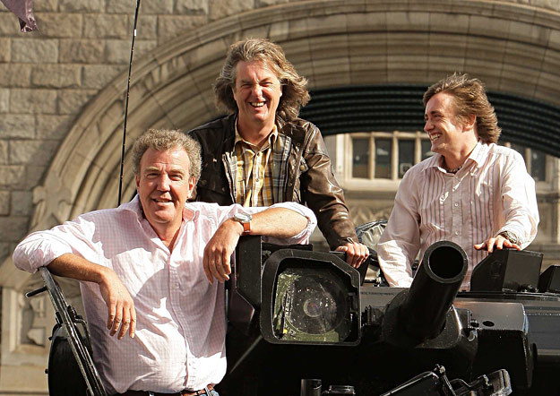 "Szalona ekipa ""Top Gear"" (od lewej): Jeremy Clarkson, James May i Richard Hammond /AFP"