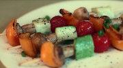 Szaszłyki z pieczonych warzyw i pieczarek