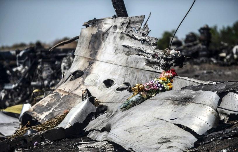 Szczątki malezyjskiego samolotu zestrzelonego na Ukrainie /BULENT KILIC /AFP