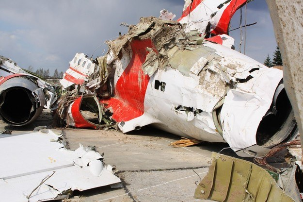 Szczątki prezydenckiego samolotu/fot. Ria Novosti /East News