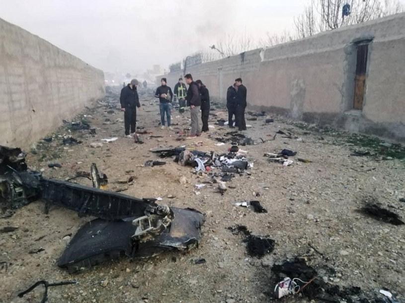 Szczątki rozbitego samolotu ukraińskich linii lotniczych /AA/ABACA/Abaca/East News /East News
