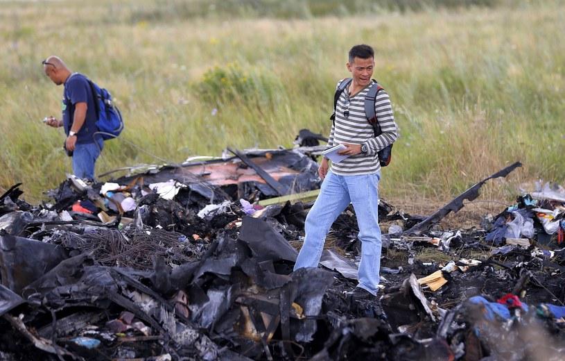 Szczątki samolotu boeing 777 /PAP/EPA