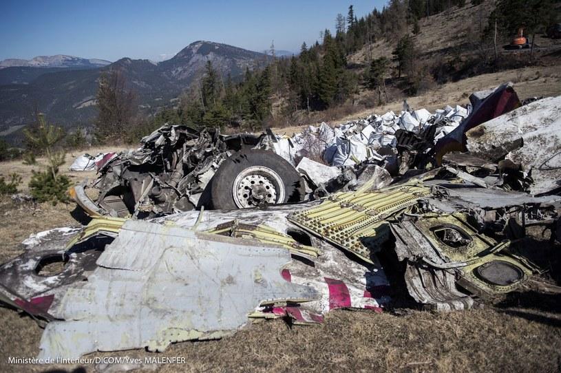 Szczątki samolotu linii Germanwings /AFP