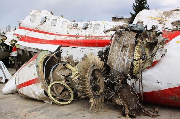 Szczątki samolotu prezydenckiego /RIA Novosti /East News