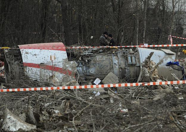 Szczątki samolotu Tu-154M fot. Natalia Kolesnikova /AFP