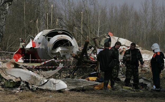 Szczątki Tu-154 na miejscu katastrofy /S. Maszewski /Reporter