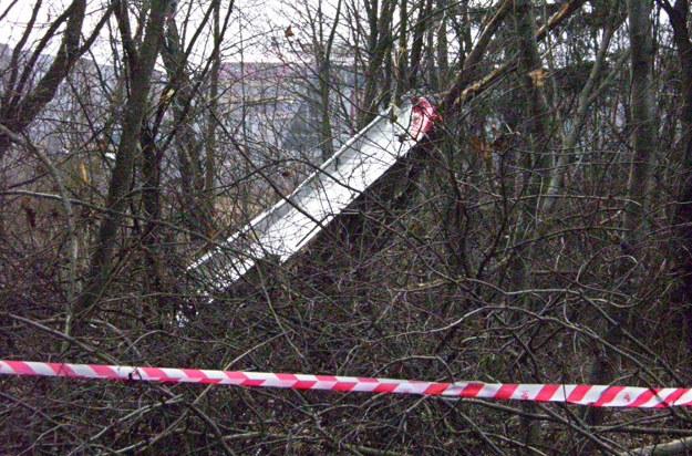 Szczątki Tu-154 w Smoleńsku /AFP