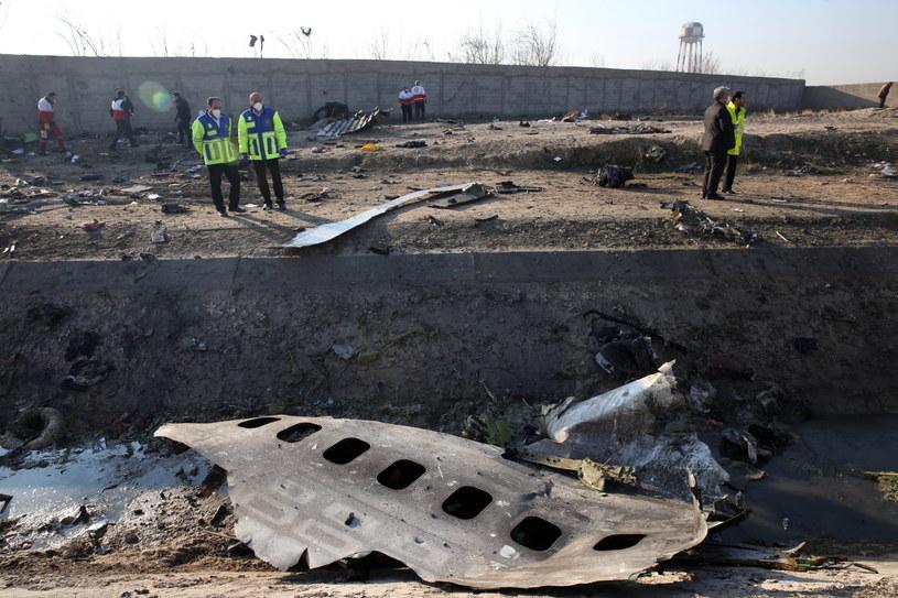 Szczątki ukraińskiego boeinga /PAP/EPA