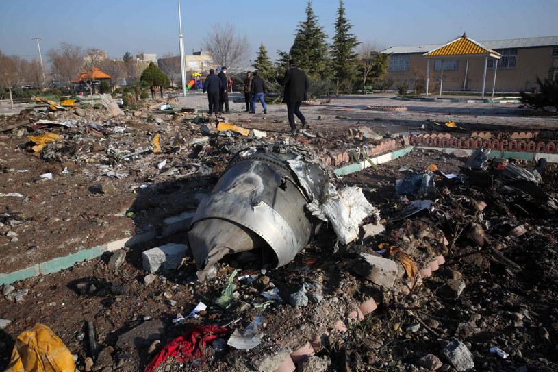 Szczątki ukraińskiego boeinga /AFP /East News