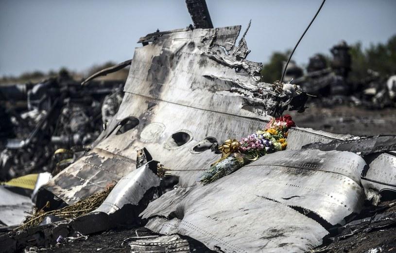 Szczątki zestrzelonego nad Ukrainą samolotu Malaysia Airlines /AFP