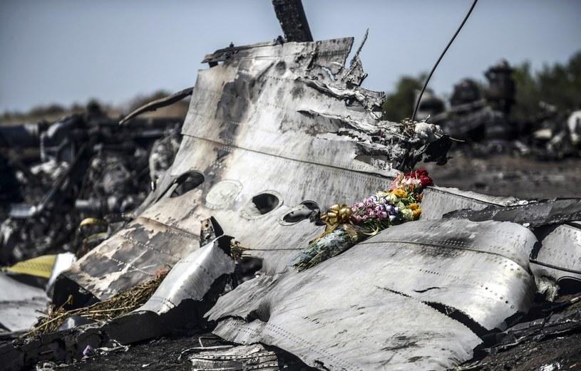 Szczątki zestrzelonego nad Ukrainą samolotu /AFP