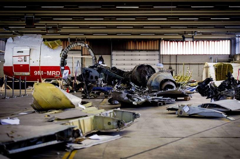 Szczątki zestrzelonego samolotu /AFP