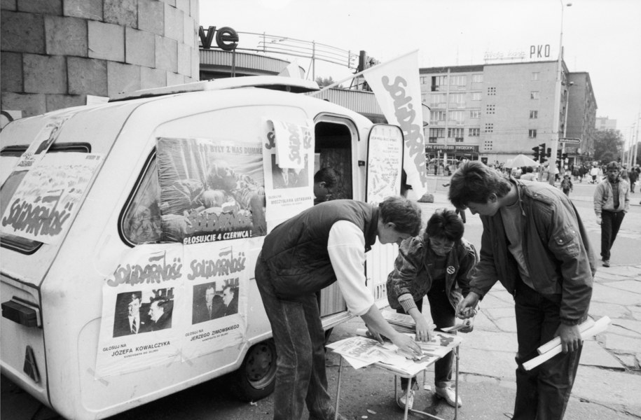 Szczecin 1989 /Jerzy Undro /PAP