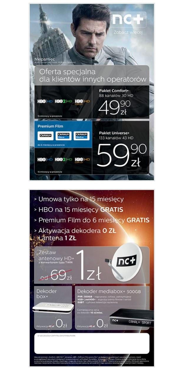 Szczegóły nowej oferty nc+ /SatKurier