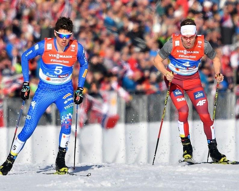 Szczepan Kupczak (z prawej) rywalizuje z Samuelem Costą z Włoch. /AFP