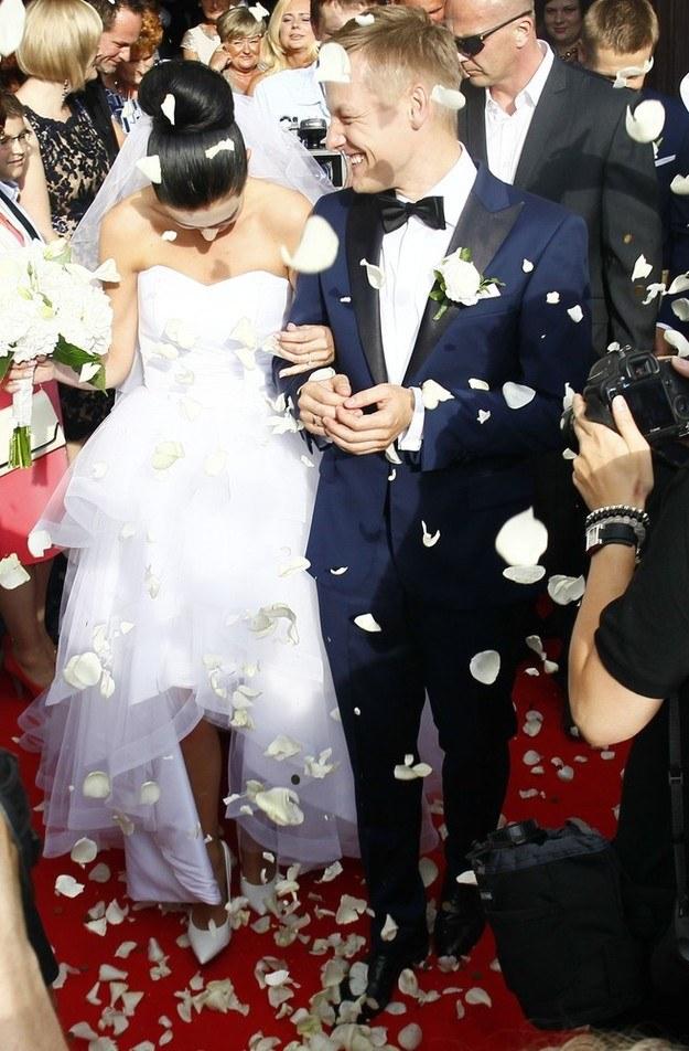 Szczęśliwi nowożeńcy /- /East News