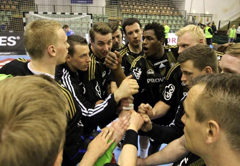 Szczypiorniści THW Kiel świętują zwycięstwo nad HC Zaporoże /PAP/EPA