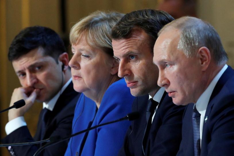 Szczyt kwartetu normandzkiego, w skład którego wchodzą Niemcy, Francja, Ukraina i Rosja. /Charles Platiau /PAP/EPA