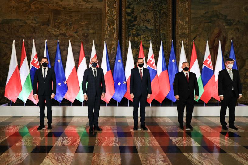 Szczyt szefów rządów państw Grupy Wyszehradzkiej z udziałem Przewodniczącego Rady Europejskiej /Filip Radwański /Agencja FORUM