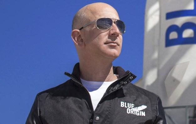 Szef Amazona Jeff Bezos /BLUE ORIGIN HANDOUT /PAP/EPA