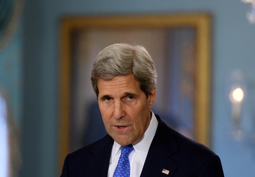 Szef amerykańskiej dyplomacji John Kerry /AFP