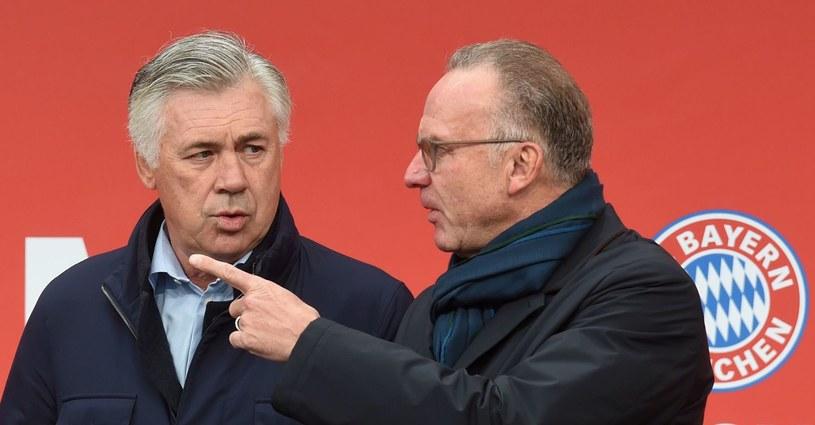 Szef Bayernu Karl-Heinz Rummenigge (z prawej) i trener Carlo Ancelotti /AFP