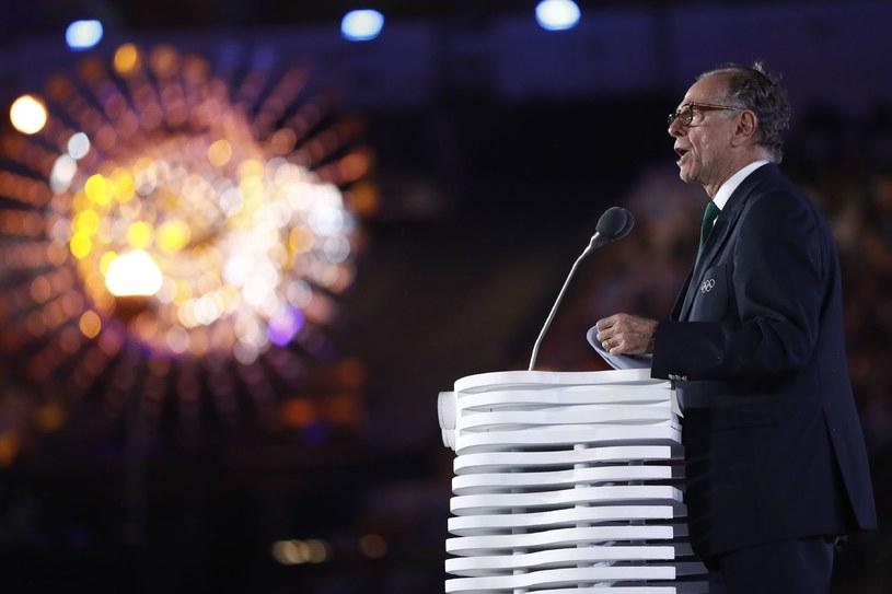 Szef Brazylijskiego Komitetu Olimpijskiego (COB) Carlos Arthur Nuzman podczas ceremonii zamknięcia igrzysk w Rio de Janeiro /AFP