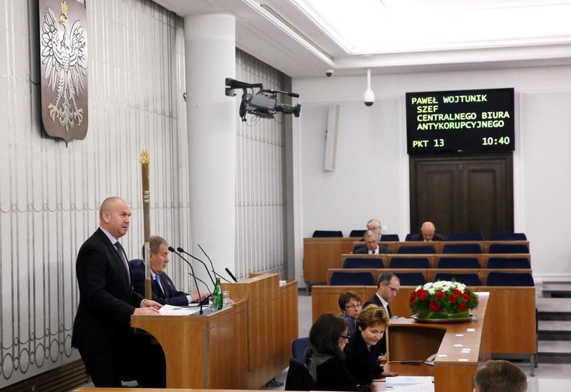 Szef CBA Paweł Wojtunik /Tomasz Gzell /PAP