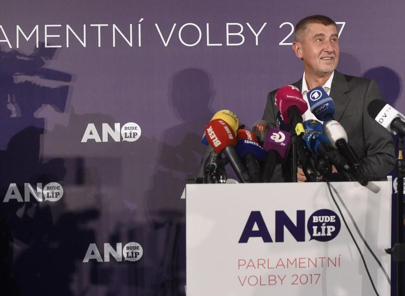 Szef czeskiej partii Andrej Babisz /MICHAL CIZEK /AFP