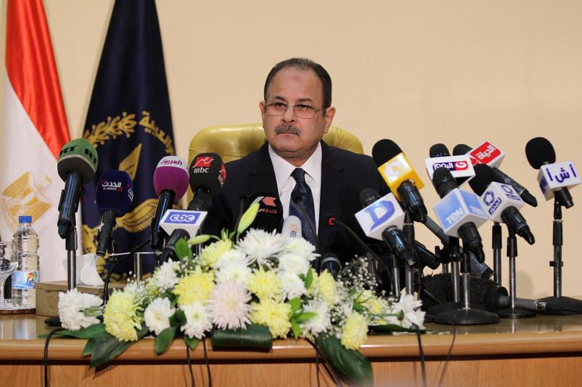 Szef egipskiego MSW Magdi Mohammed Abd el-Ghafar /STRINGER /AFP