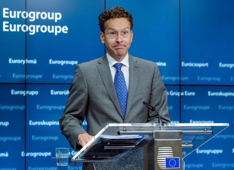 Szef eurogrupy Jeroen Dijsselbloem: Cierpliwość wobec Grecji wyczerpuje się /STEPHANIE LECOCQ  /PAP/EPA
