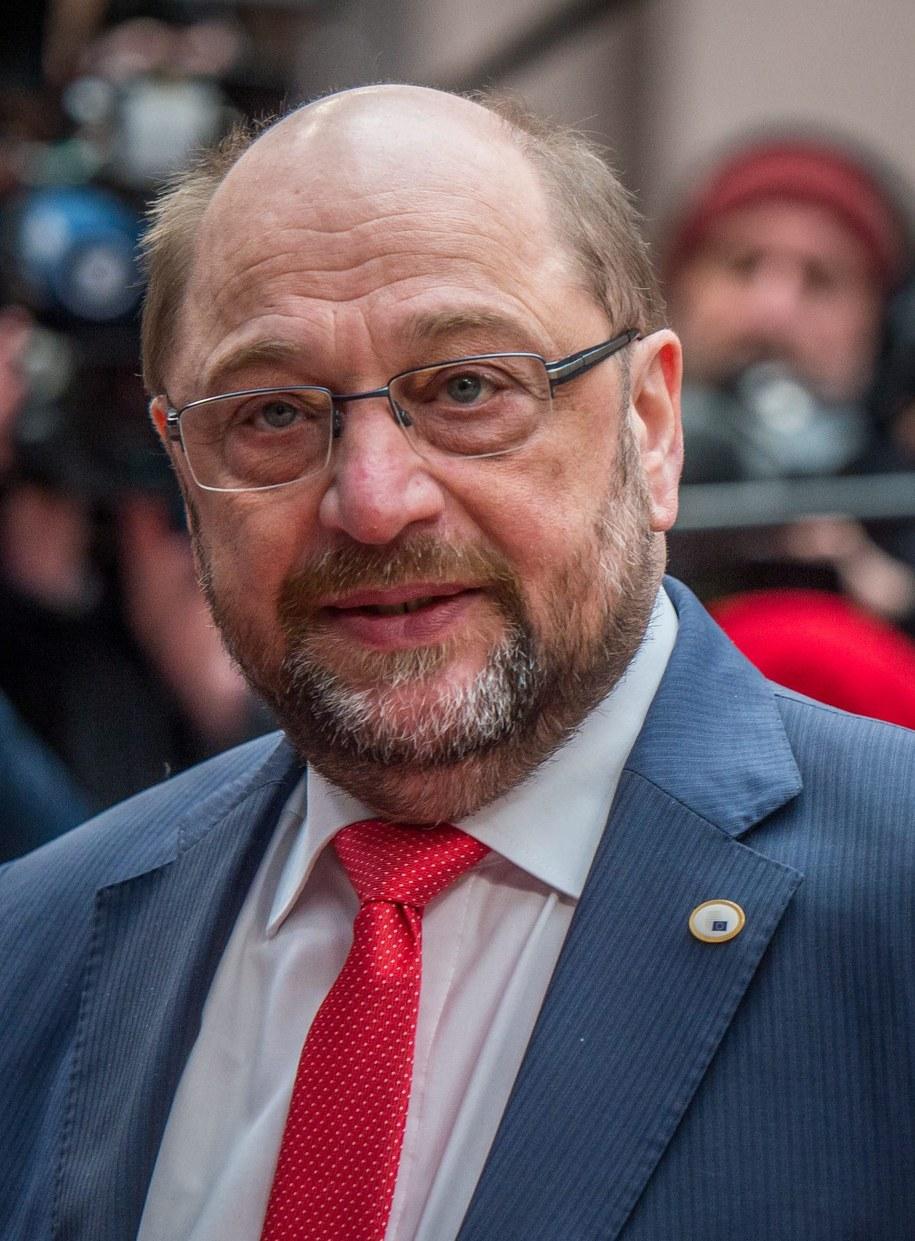 Szef europarlamentu Martin Schulz /PAP/EPA/STEPHANIE LECOCQ /PAP/EPA