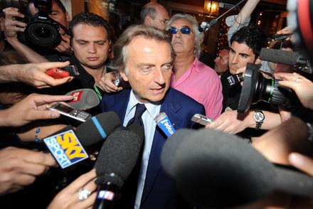 Szef Ferrari  Luca di Montezemolo (z przodu) i Flafio Briatore z Renaulta. /AFP