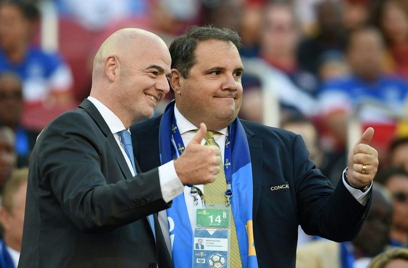 Szef FIFA Gianni Infantino (z lewej) i wiceszef Victor Montagliani /AFP