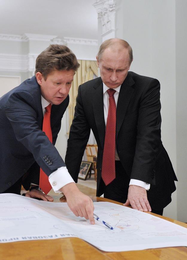 Szef Gazpromu Aleksiej Miller i prezydent Putin /AFP
