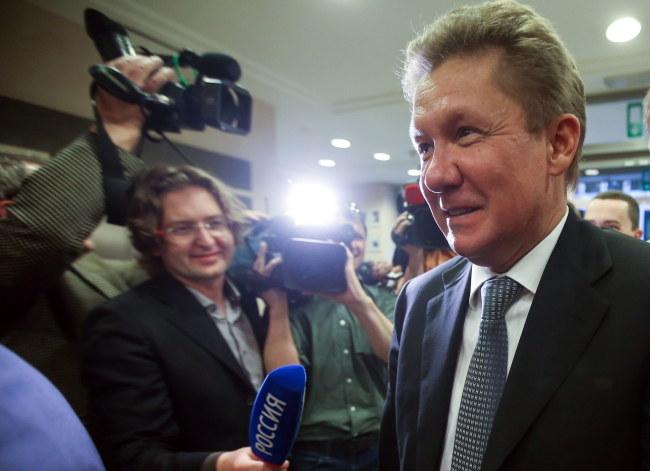 Szef Gazpromu Aleksiej Miller /OLIVIER HOSLET /PAP/EPA