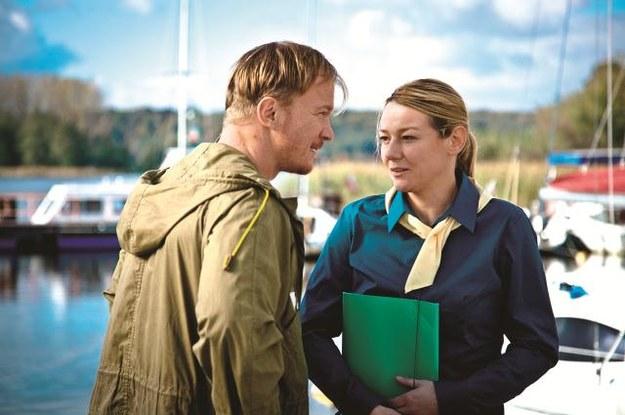 Szef Haliny, Eryk Gąsiorowski (Eryk Lubos), jest także jej kochankiem. /Mat. Prasowe