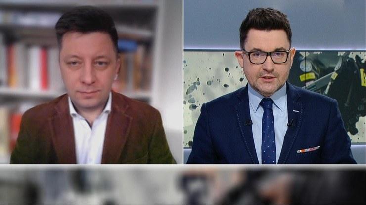 """Szef kancelarii premiera Michał Dworczyk w """"Graffiti"""" /Polsat News"""