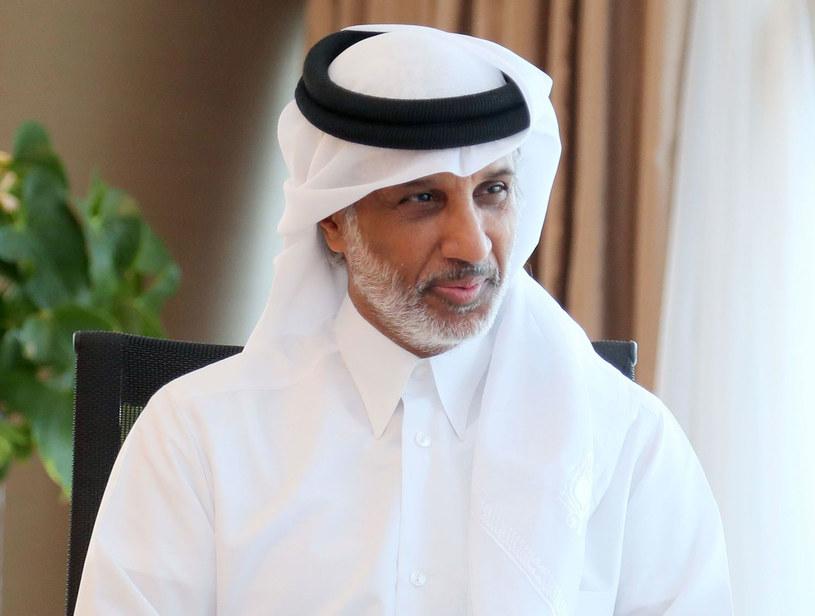 Szef katarskiej piłki Hamad Bin Khalifa Bin Ahmed Al-Thani /AFP
