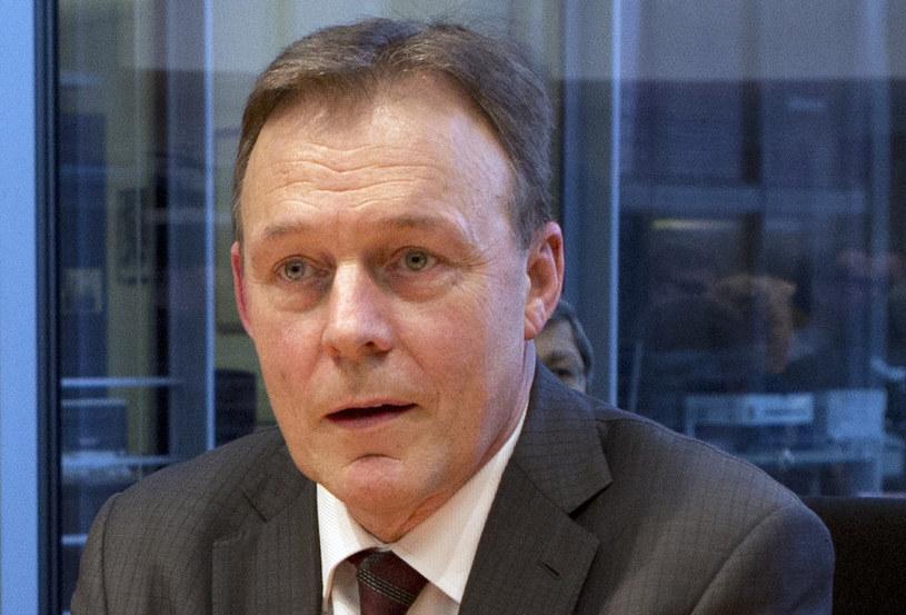 Szef klubu parlamentarnego SPD Thomas Oppermann /AFP