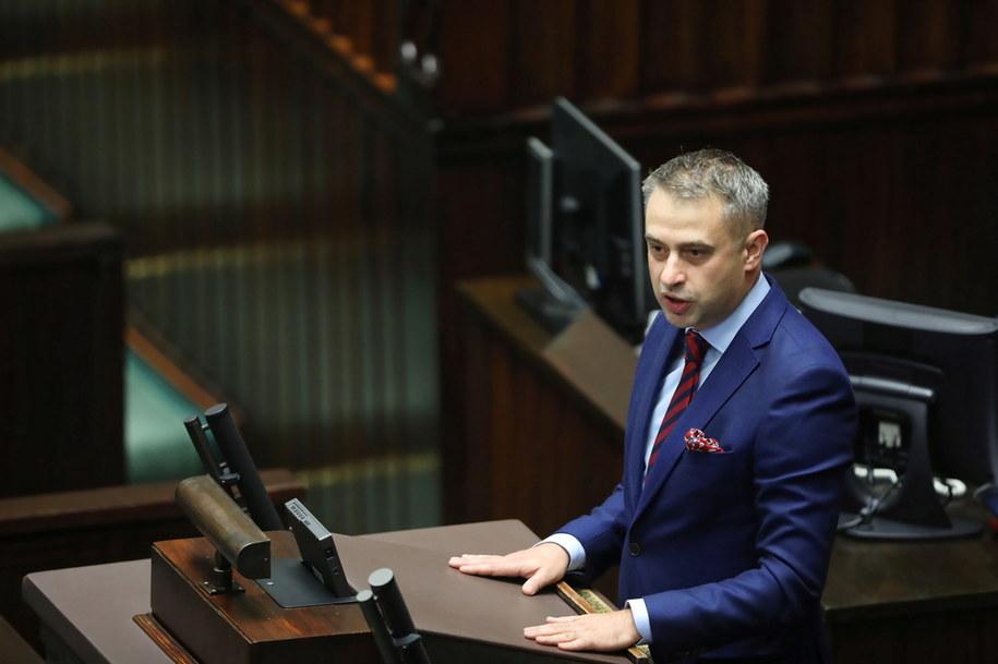 Szef Koalicyjnego Klubu Parlamentarnego Lewicy Krzysztof Gawkowski /Wojciech Olkuśnik /PAP