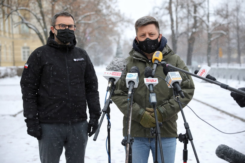 Szef KPRM Michał Dworczyk i szef ARM Michał Kuczmierowski / Leszek Szymański    /PAP